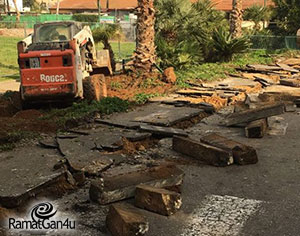 גן אלקס ורחוב קפלן החלו בשיפוץ